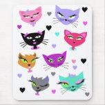 Gatos coloridos mousepads