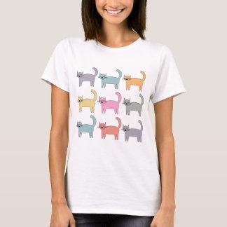 Gatos coloridos playera