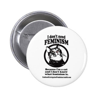 Gatos confusos (Sweetie en un diseño del círculo) Pin Redondo 5 Cm