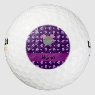 Gatos conocidos personalizados de la púrpura del pack de pelotas de golf