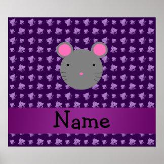 Gatos conocidos personalizados de la púrpura del r impresiones