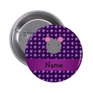 Gatos conocidos personalizados de la púrpura del r pin