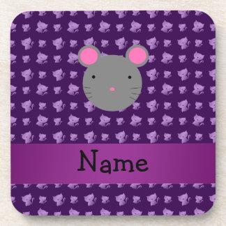 Gatos conocidos personalizados de la púrpura del r posavaso