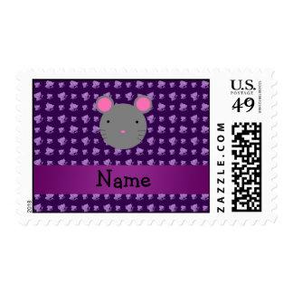 Gatos conocidos personalizados de la púrpura del sello