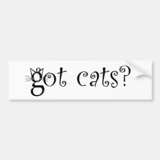 Gatos conseguidos pegatina para el parachoques pegatina para auto