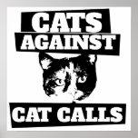 Gatos contra llamadas del gato impresiones