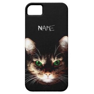 Gatos de Badass - ojos verdes iPhone 5 Fundas