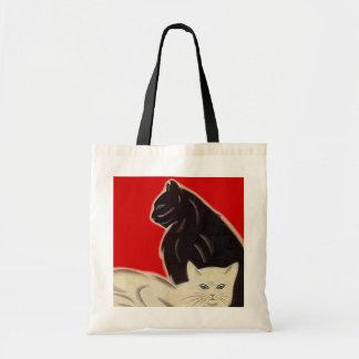 Gatos de Catz del estilo del art déco de la bolsa