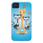 Gatos de Chester iPhone 4 Fundas