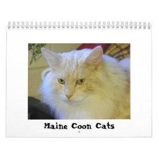 Gatos de Coon de Maine Calendario