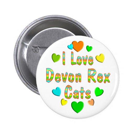 Gatos de Devon Rex del amor Pin Redondo 5 Cm