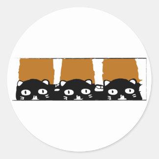 Gatos de Halloween Pegatina Redonda