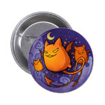 Gatos de Halloween Pin
