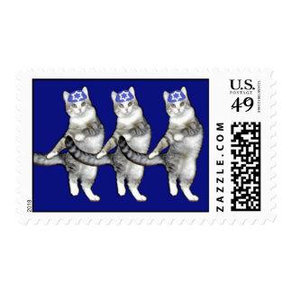 Gatos de Jánuca del baile - hoja de los sellos