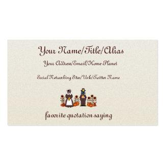 Gatos de la acción de gracias tarjetas de visita