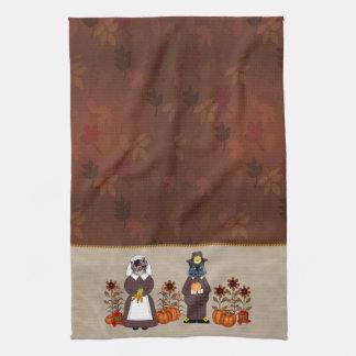 Gatos de la acción de gracias toalla de cocina