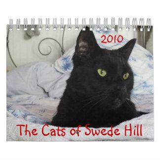 Gatos de la colina 2010 sueco calendario