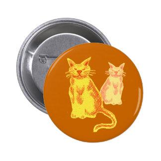 Gatos de la mermelada pin redondo de 2 pulgadas