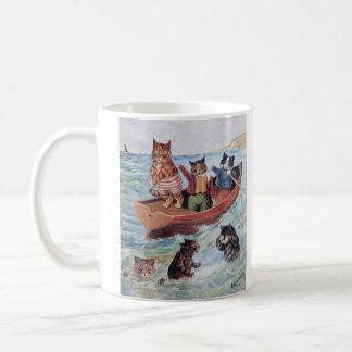 Gatos de la natación de Louis Wain Taza De Café