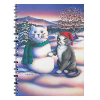 Gatos de la nieve cuaderno