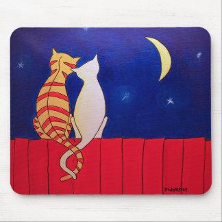 Gatos de la noche alfombrilla de ratones
