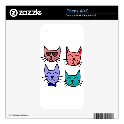 Gatos de la pintada skin para el iPhone 4S