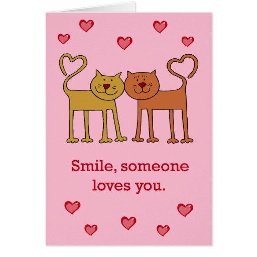 Gatos de la tarjeta del día de San Valentín en tar