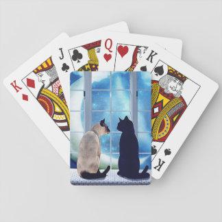 Gatos de la ventana baraja de cartas