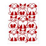 Gatos de los corazones de la tarjeta del día de Sa Tarjetas Postales