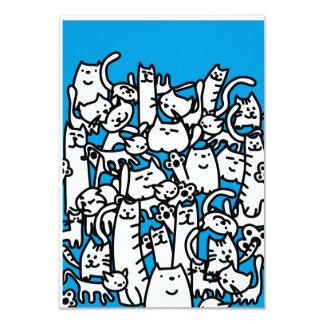 """Gatos de los gatos de los gatos invitación 3.5"""" x 5"""""""