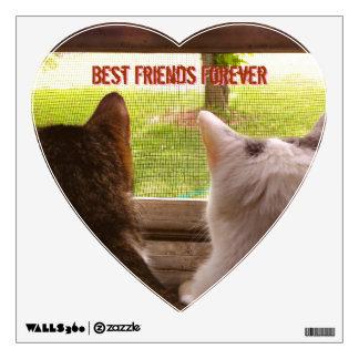 Gatos - de los mejores amigos etiqueta de la pared vinilo decorativo