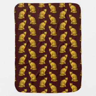 Gatos de oro manta de bebé