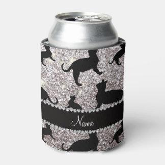 Gatos de plata conocidos personalizados del brillo enfriador de latas