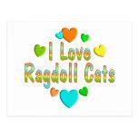 Gatos de Ragdoll del amor Postal