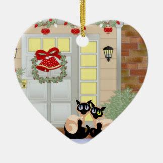 Gatos de Siames del navidad Adorno De Reyes