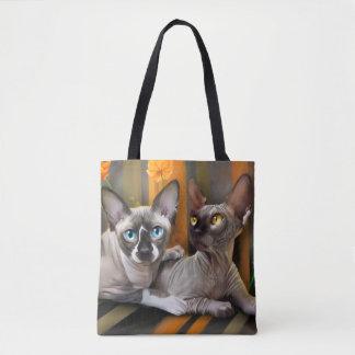 Gatos de Sphynax Bolsa De Tela