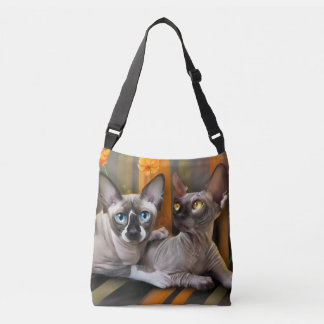 Gatos de Sphynx Bolsa Cruzada
