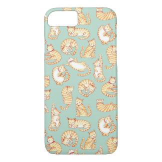 Gatos de Tabby anaranjados Funda iPhone 7