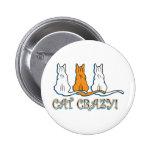 Gatos de Tabby anaranjados locos del gato