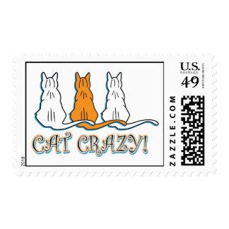 Gatos de Tabby anaranjados locos del gato Sellos