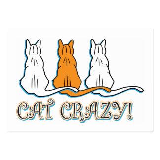 Gatos de Tabby anaranjados locos del gato Plantillas De Tarjeta De Negocio