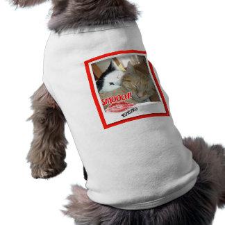 Gatos de Tabby de la tarjeta del día de San Valent Playera Sin Mangas Para Perro