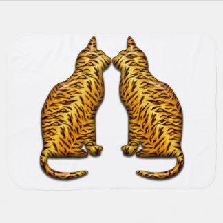 Gatos de tigre mantita para bebé