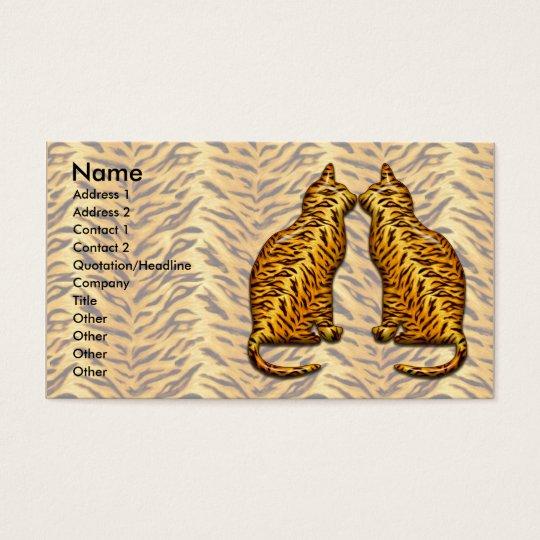 Gatos de tigre tarjeta de negocios