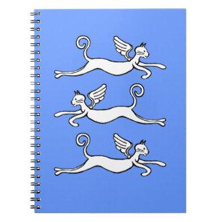 gatos de vuelo libreta