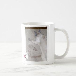 Gatos de vuelo taza de café
