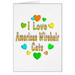 Gatos de Wirehair del americano del amor Tarjeton