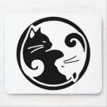 Gatos de Yin Yang Alfombrilla De Ratón