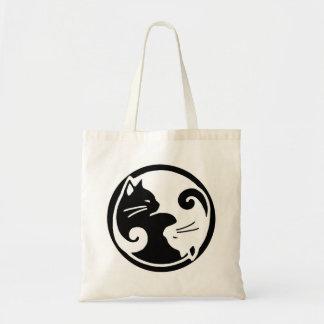 Gatos de Yin Yang Bolsas De Mano