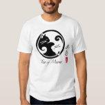 Gatos de Yin Yang el | Tao de la camiseta de los Playera